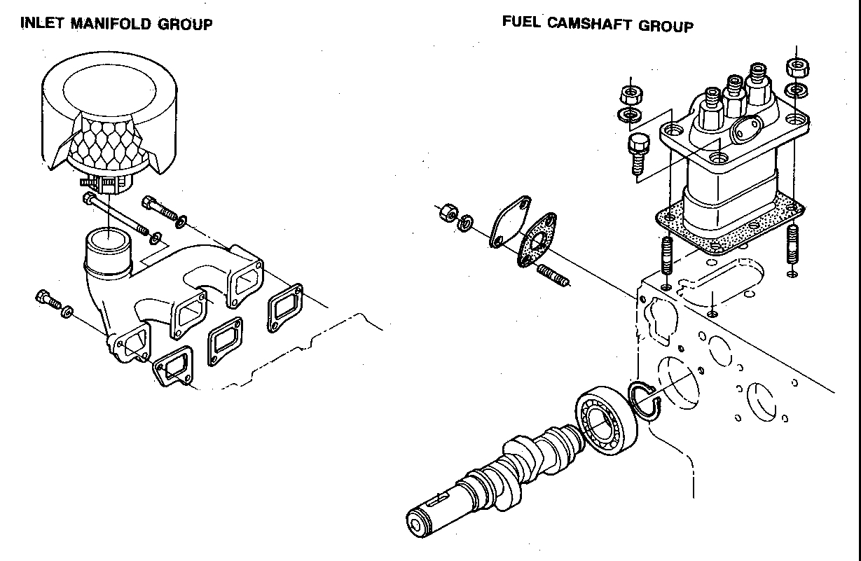 V1505 Kubota Engines Diagrams