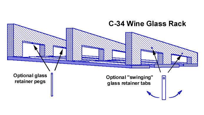 wine rack and glass holder plans